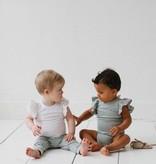 Ruffled Bodysuit - Little Stripes (NEW)
