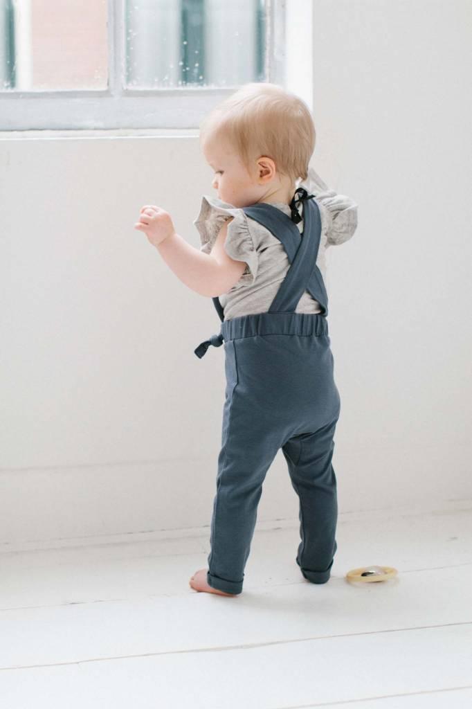 Suspender Pants - Vintage Grey