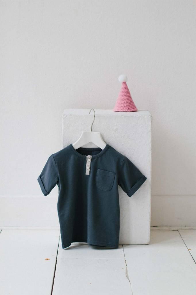Button Tee - Vintage Grey