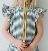 Ruffled Summer Dress - Little Stripes