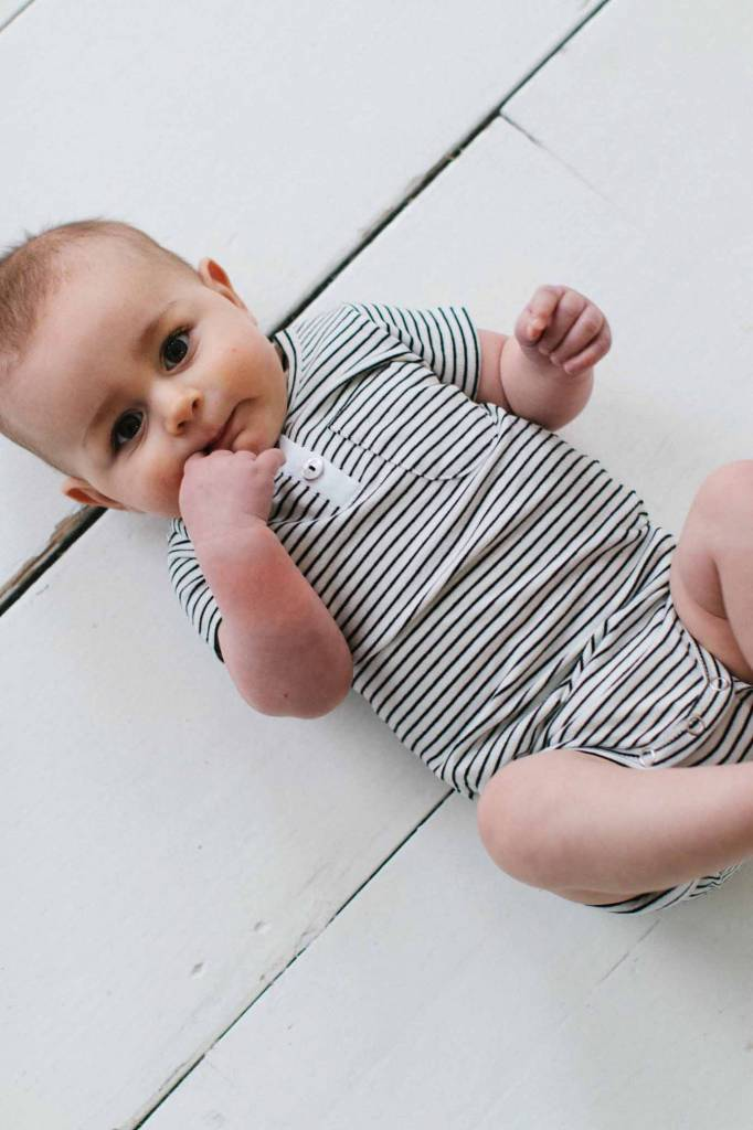 Button Bodysuit - Little Stripes