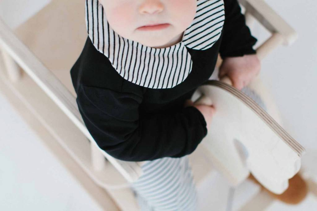 Girls Collar Bodysuit (long sleeve) - Little Stripes (NEW)