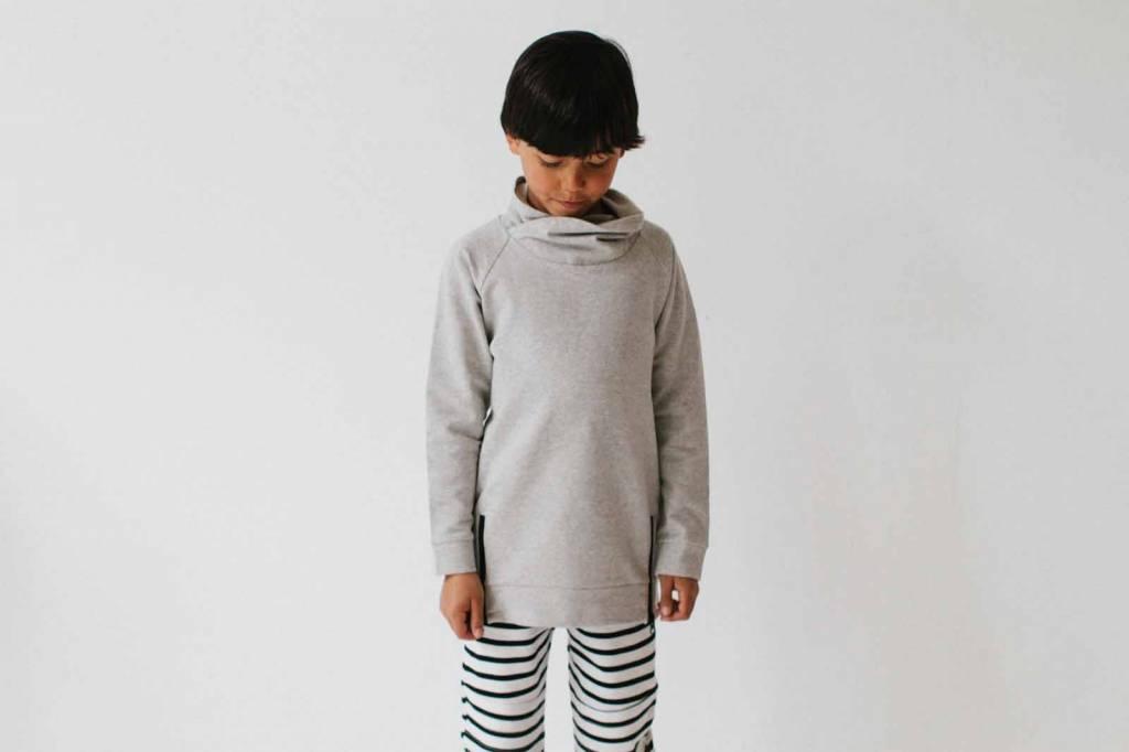 Long Zip Sweater - Stone