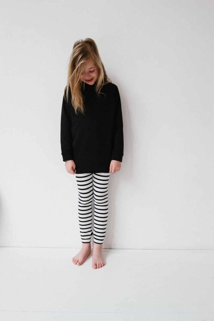 Long Zip Sweater - Black