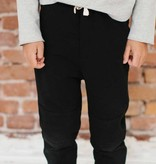 Knee Patch Jogger - Black