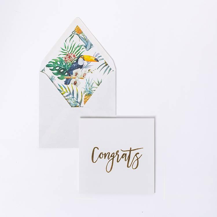 kaart - Congrats Goud