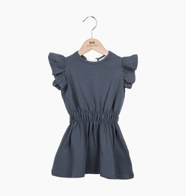 Ruffled Summer Dress - Vintage Grey