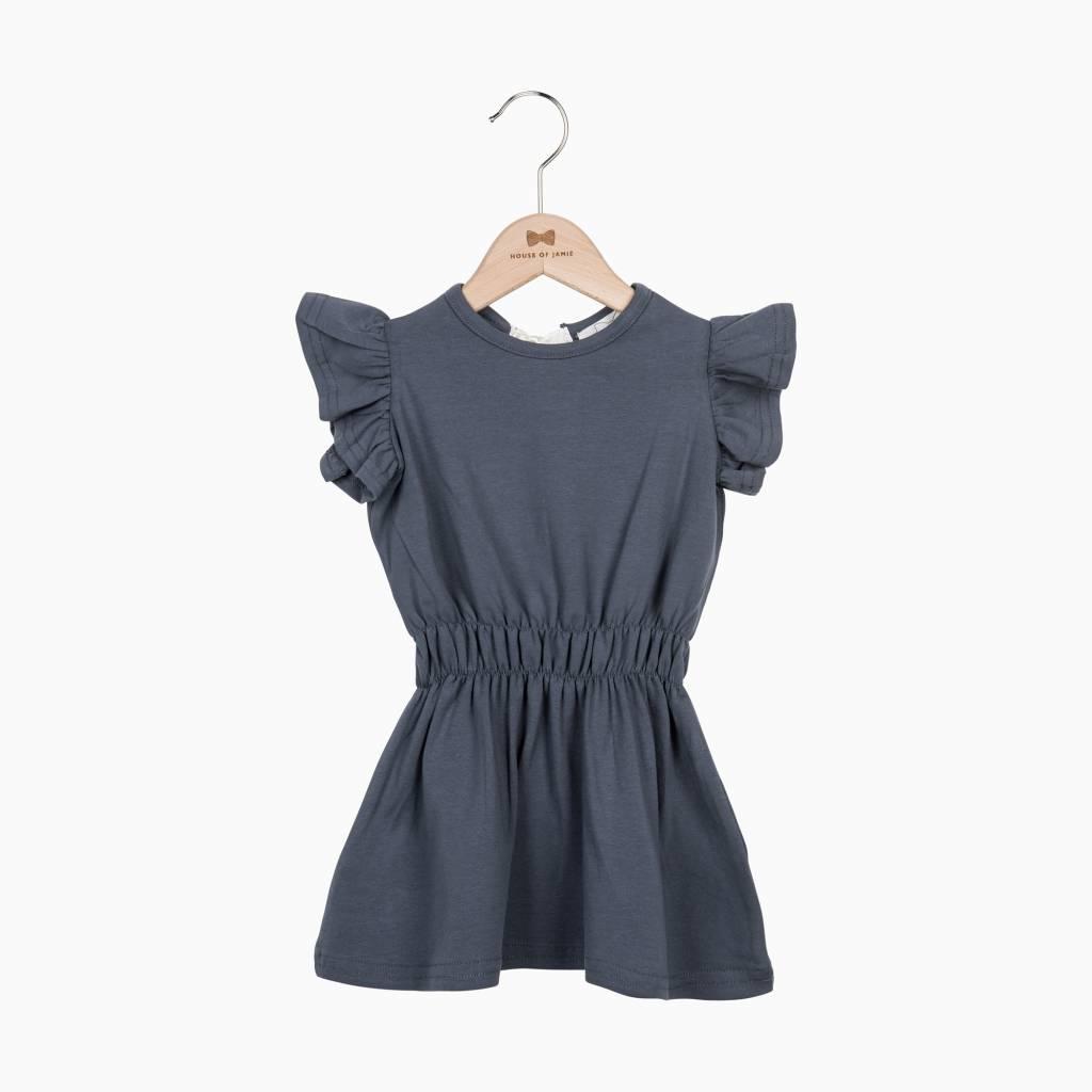Ruffled Summer Dress - Vintage Grey