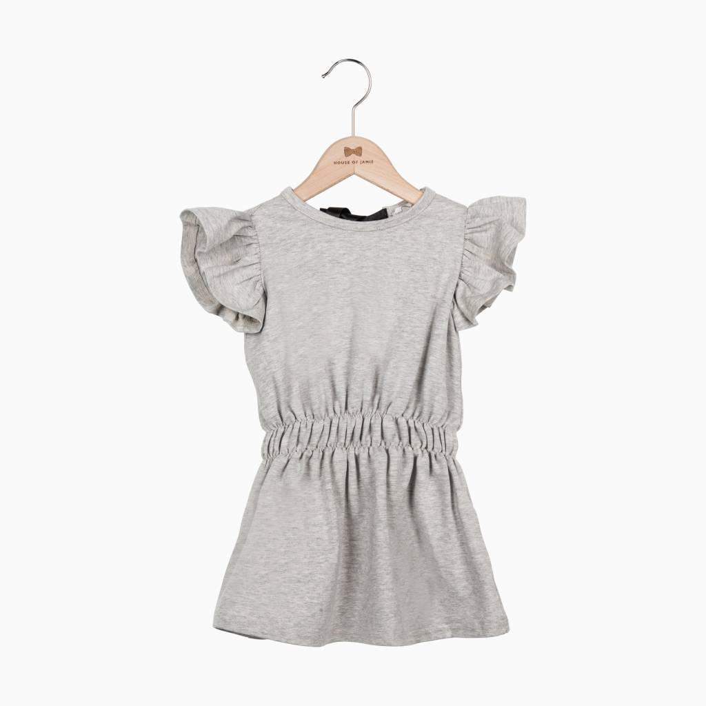Ruffled Summer Dress - Stone - House of Jamie Ruffled Sweater House Of Jamie