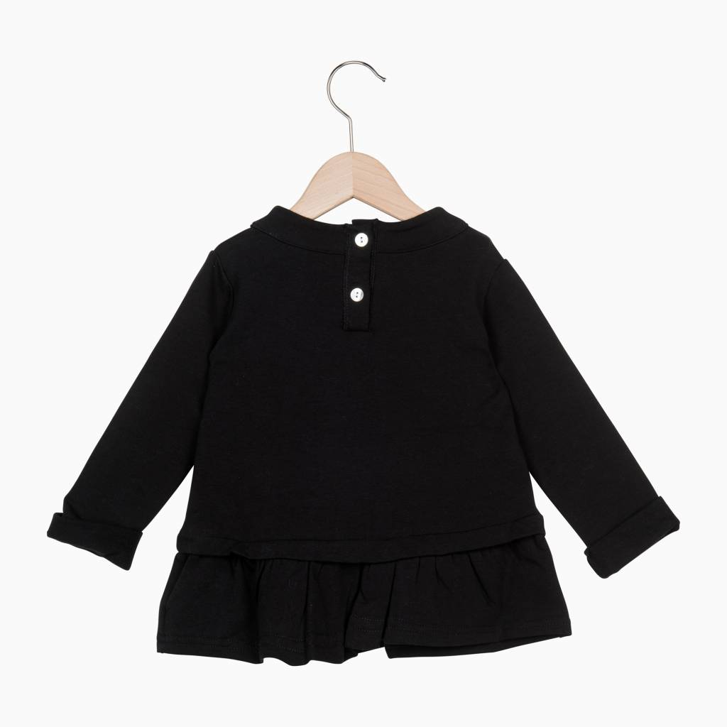 Ruffled Sweater - Black