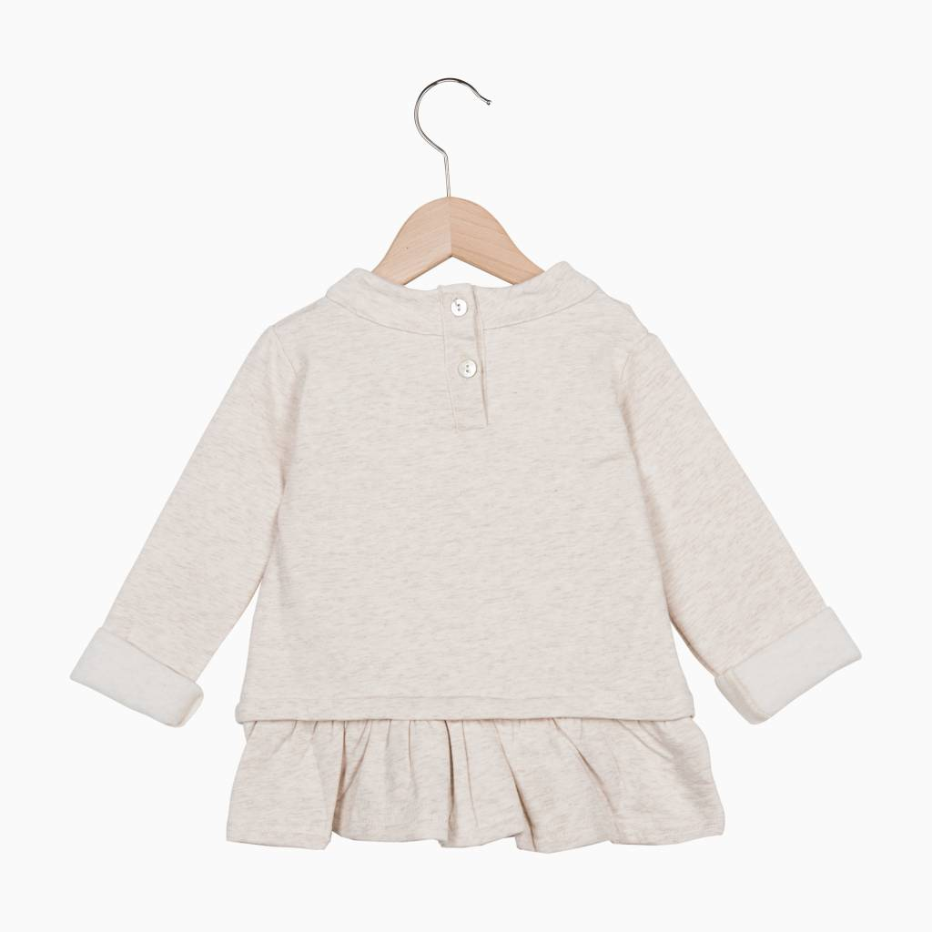 Ruffled Sweater - Sand