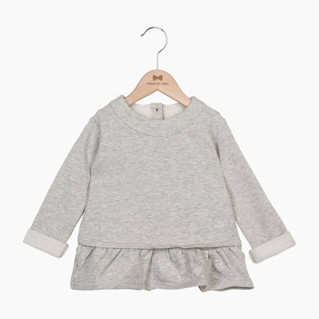 Ruffled Sweater - Stone