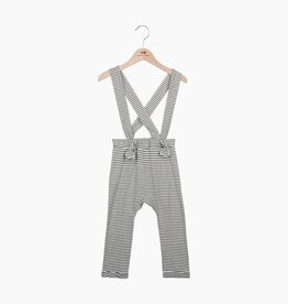 Suspender Pants - Little Stripes