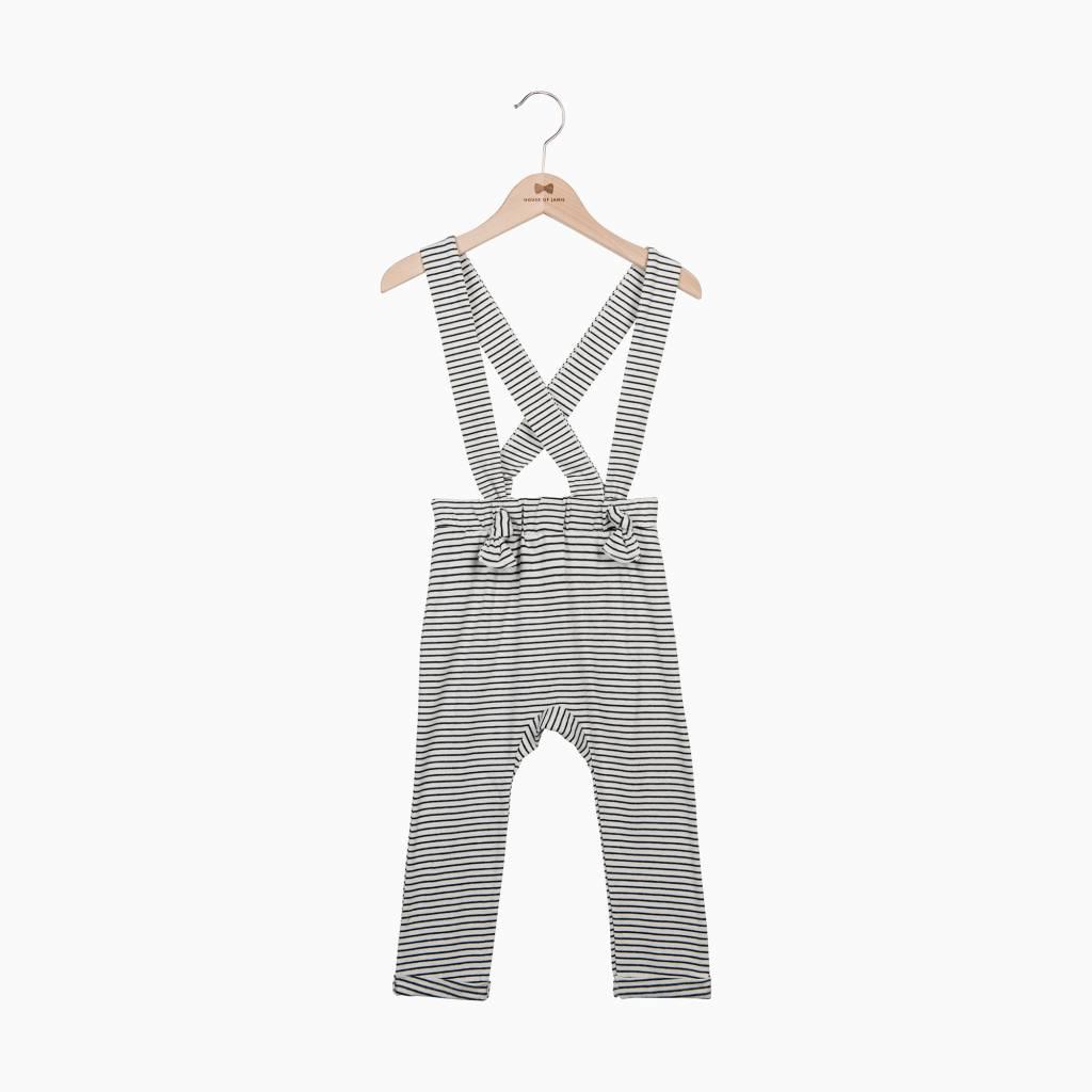 Suspender Pants - Little Stripes