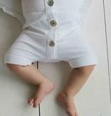 Summer Button Suit - Snow White