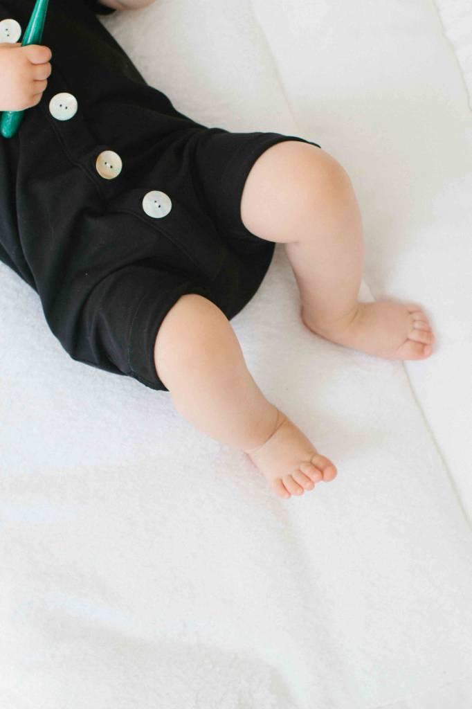 Summer Button Suit - Black
