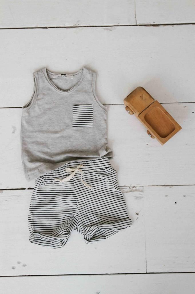 Tanktop - Stone (striped pocket)