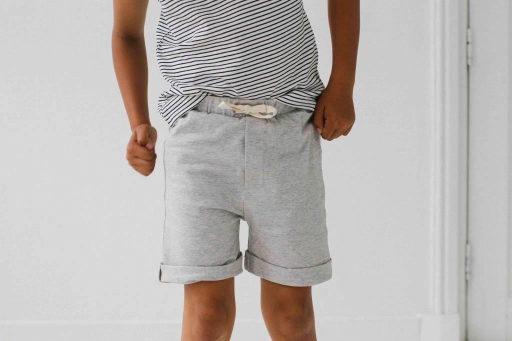 Tanktop - Little Stripes (stone pocket)