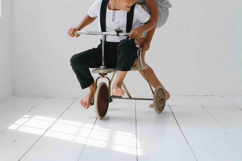 Suspender Pants - Black
