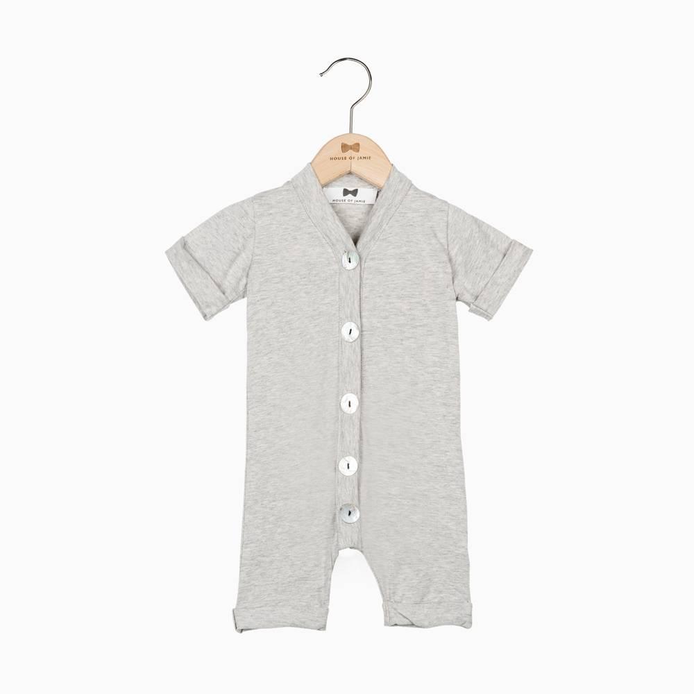 Summer Button Suit - Stone