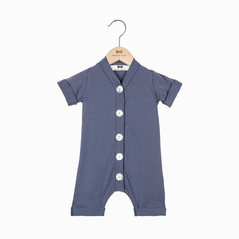 Summer Button Suit - Vintage Grey