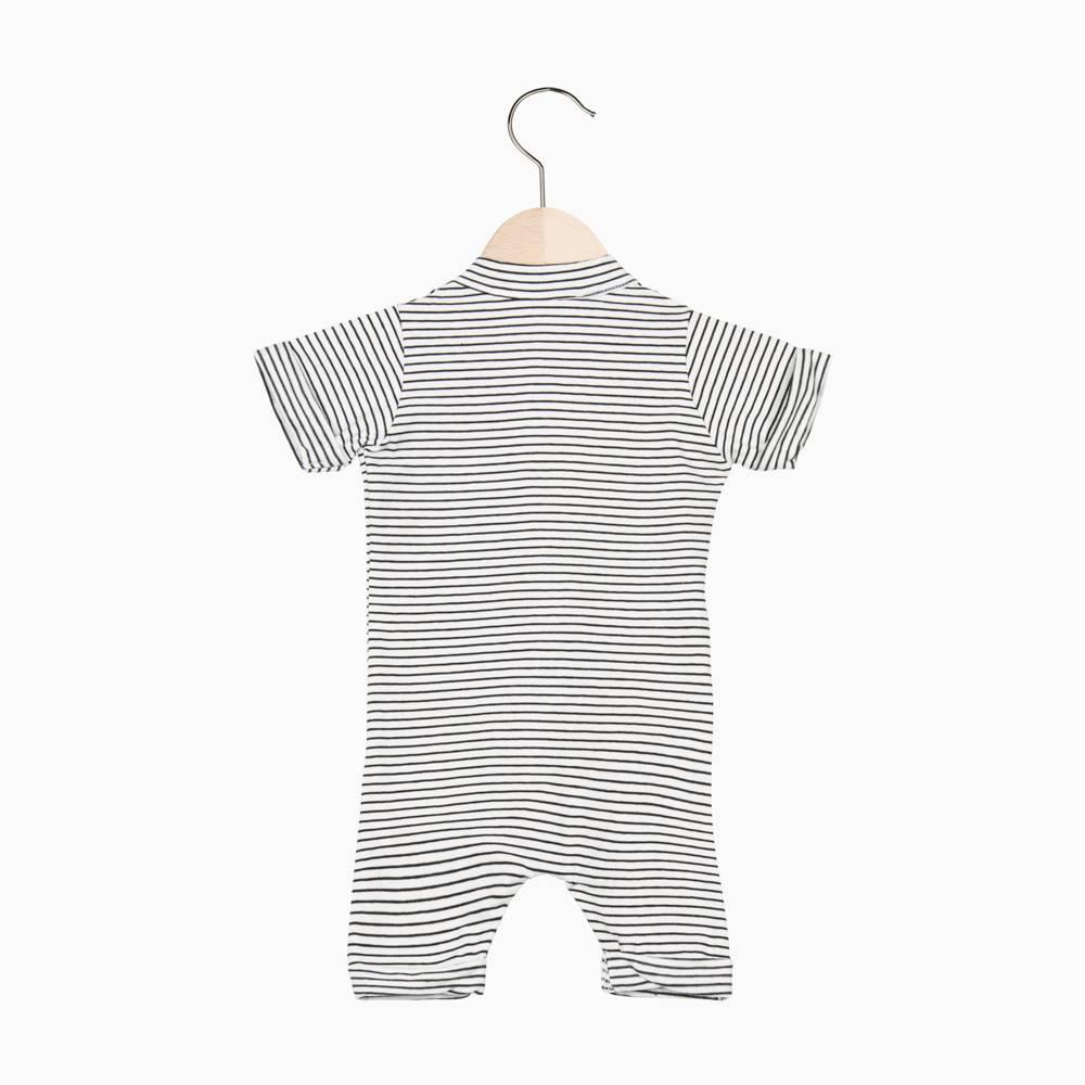 Summer Button Suit - Little Stripes