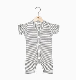 Summer Button Suit - Little Stripes