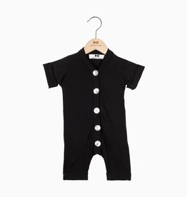Summer Button Suit - Black