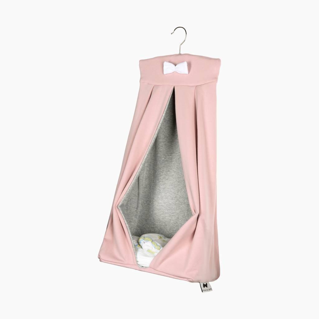 Opbergzak voor luiers - Powder Pink + Stone (NEW)