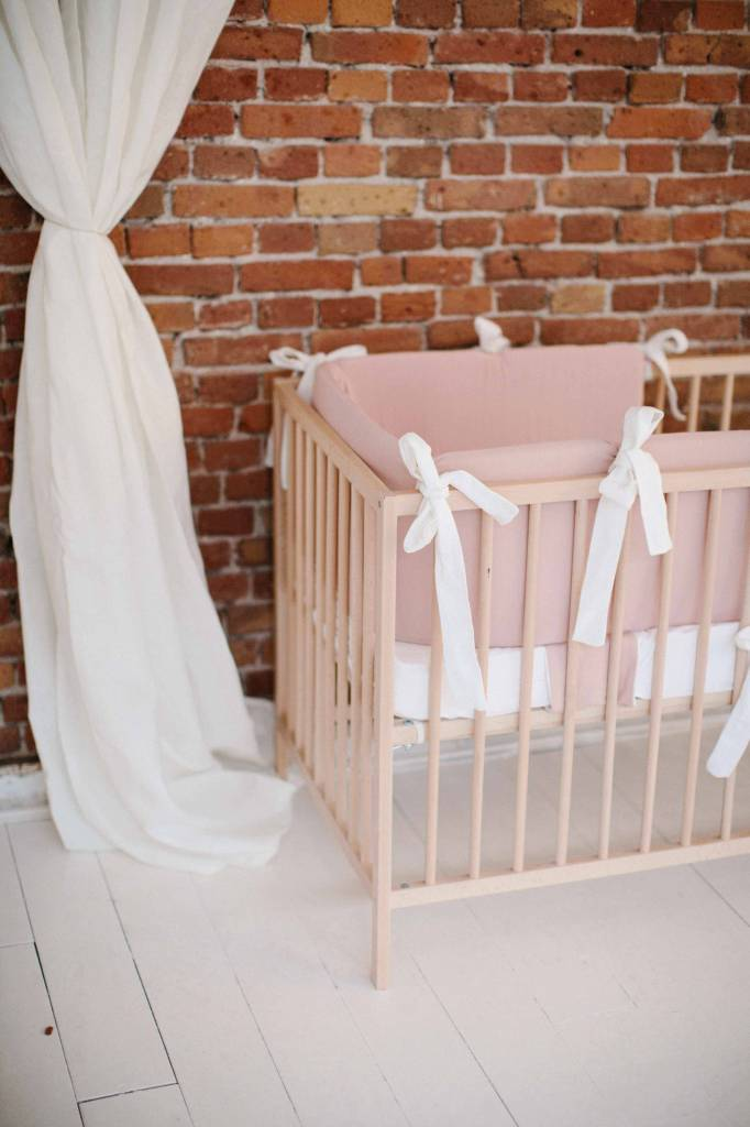 Bed-playpenbumper - Powder Pink