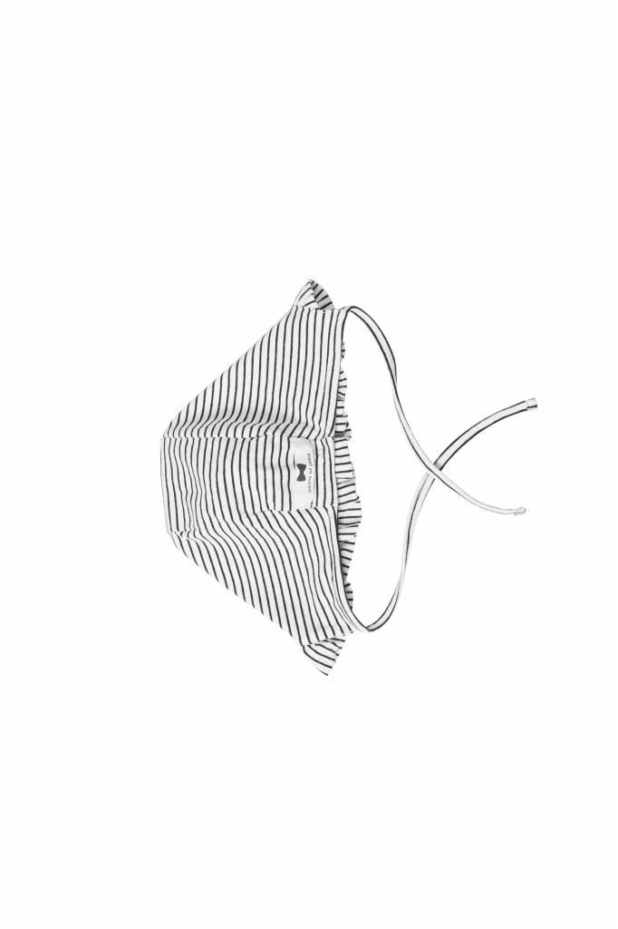 Ruffled Bonnet - Little Stripes