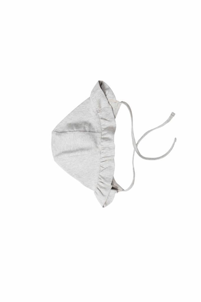 Ruffled Bonnet - Stone