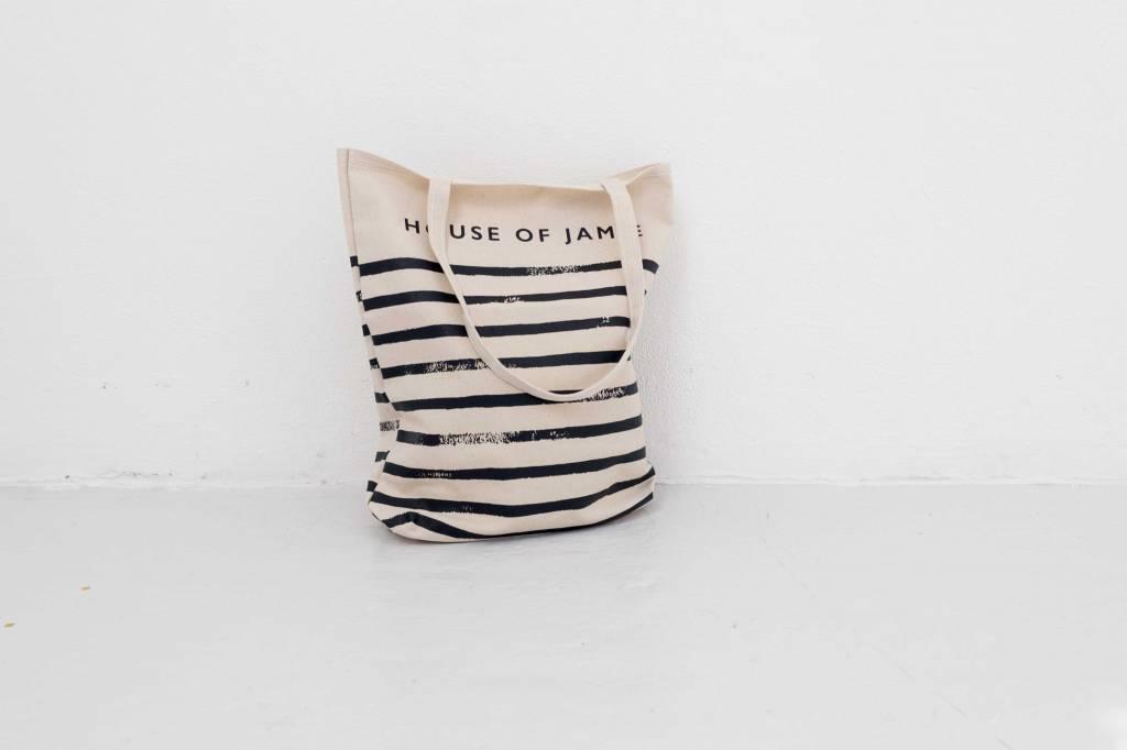 Medium Canvas Shopper - Stripes