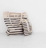 Medium Canvas Shopper - Stripes (NEW)