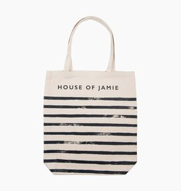 Medium Canvas Shopper - Stripes