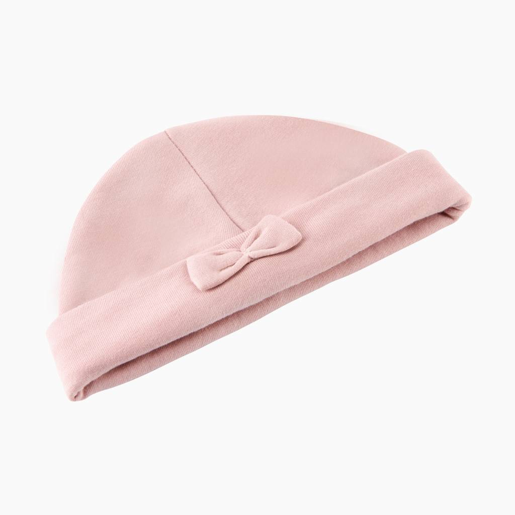 Bow Tie Hat - Powder Pink
