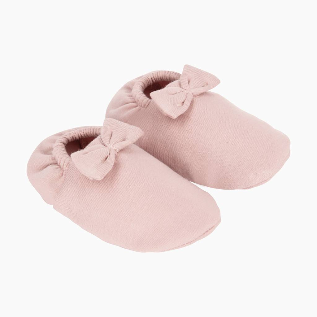 Bow Tie Booties - Powder Pink