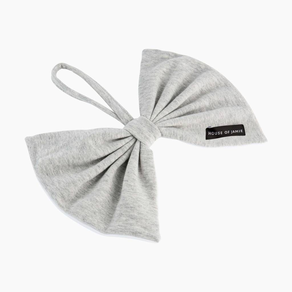 Pacifier Cord Bow Tie - Stone