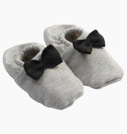 Bow Tie Booties - Stone