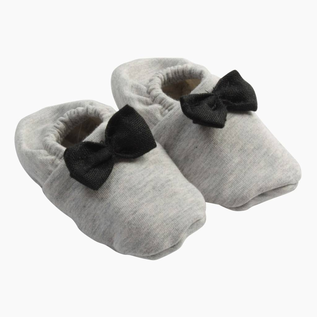 Bow Tie Booties - Stone