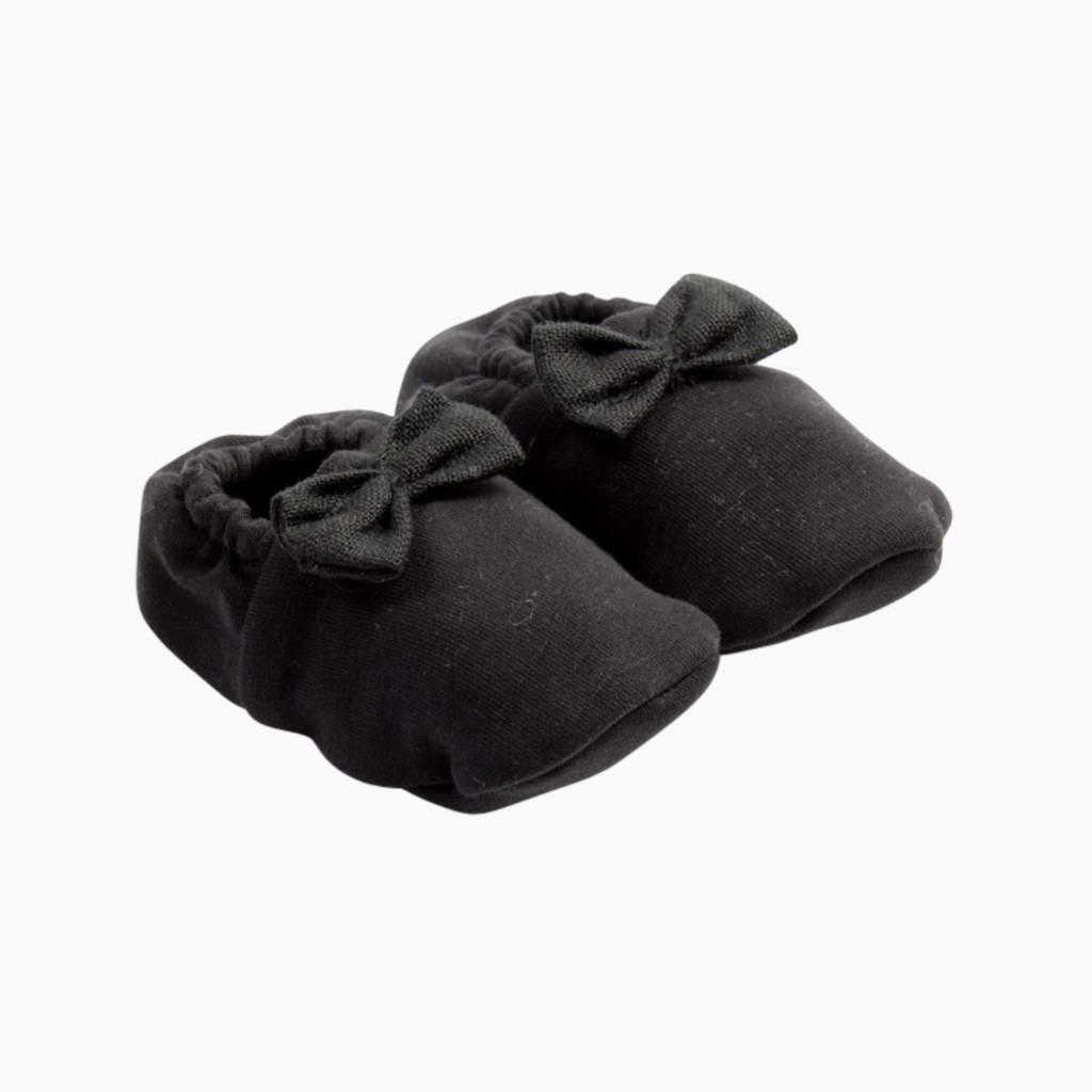 Bow Tie Booties - Black