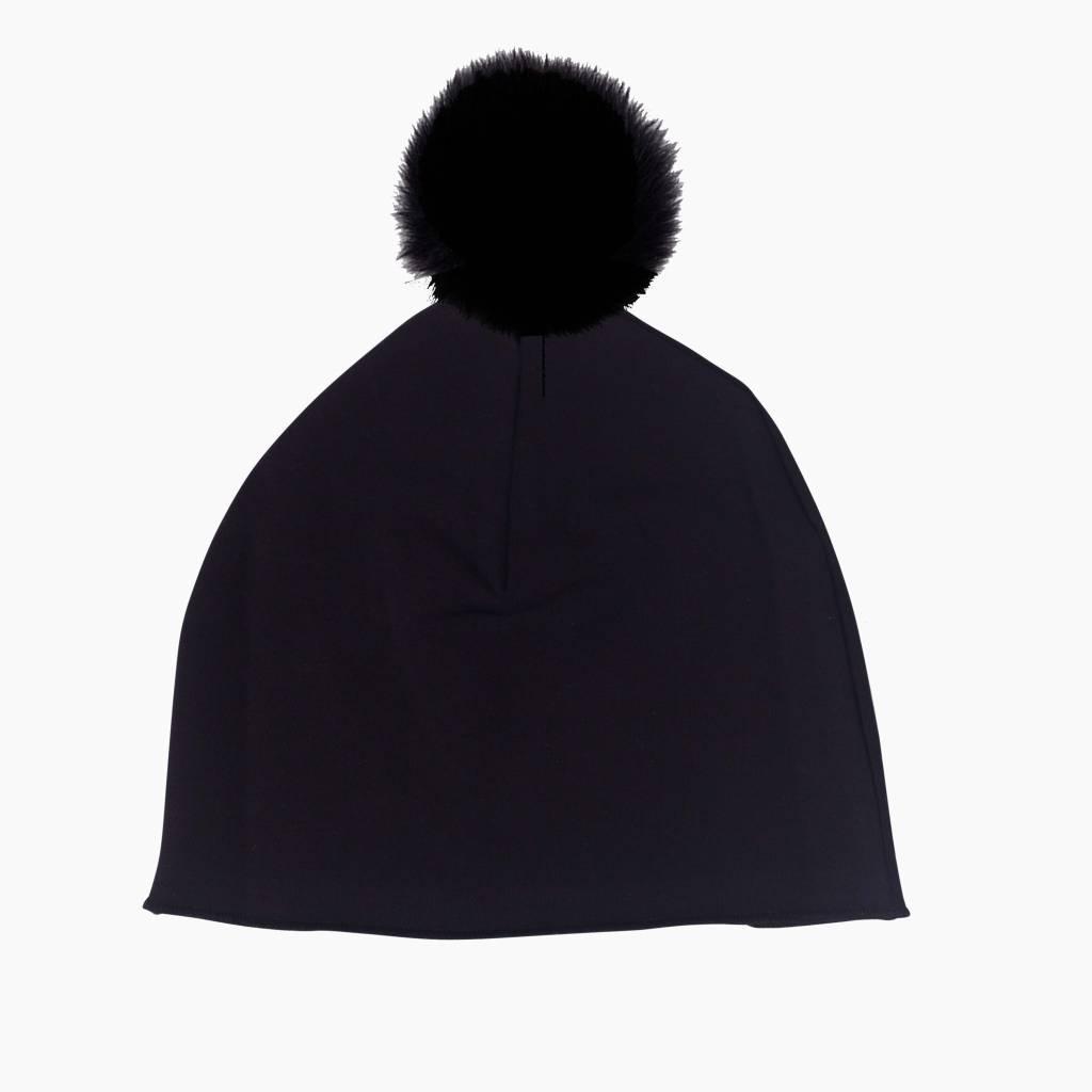 Pom Pom Hat - Black