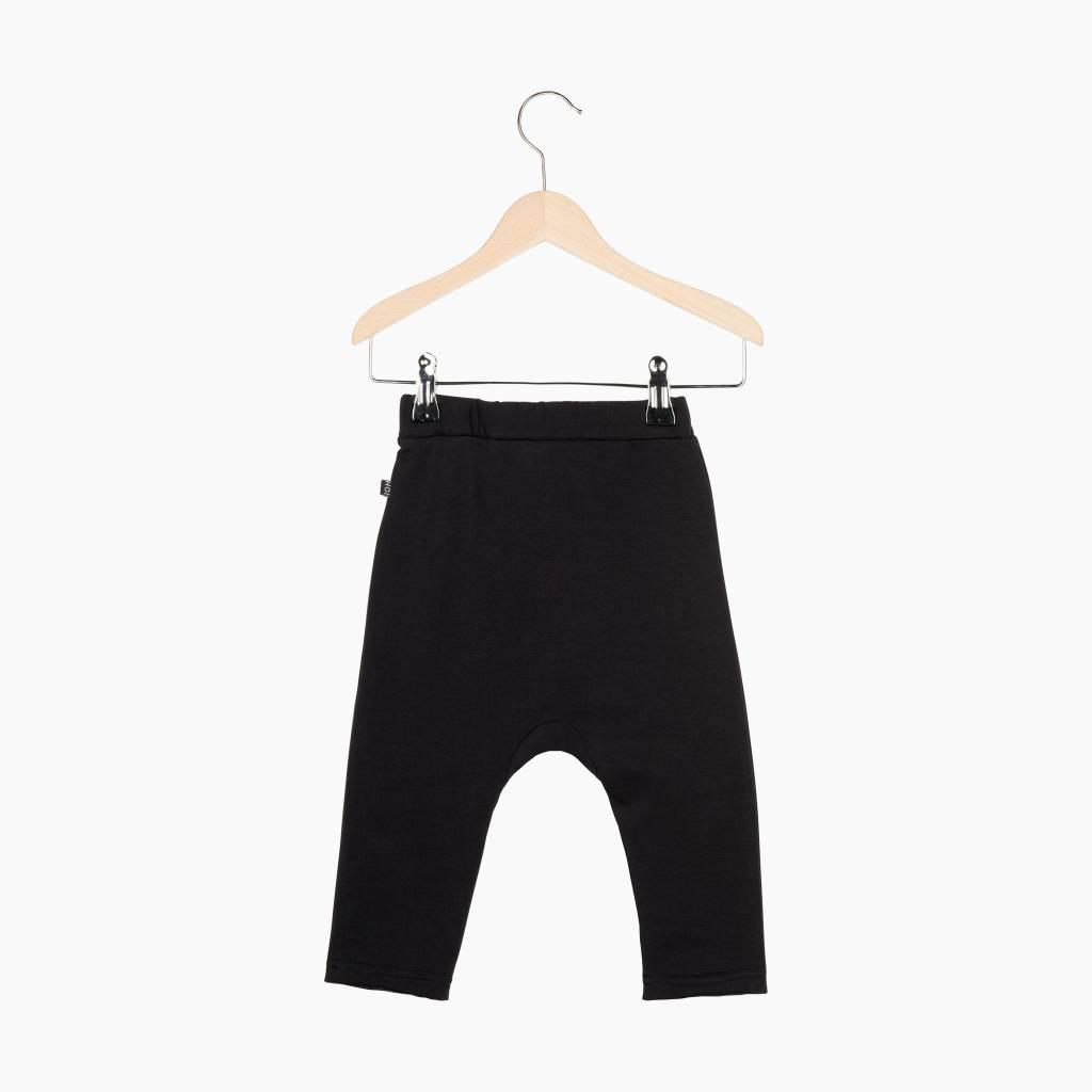 Button Baggy Pants - Black