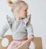 Button Baggy Pants - Powder Pink