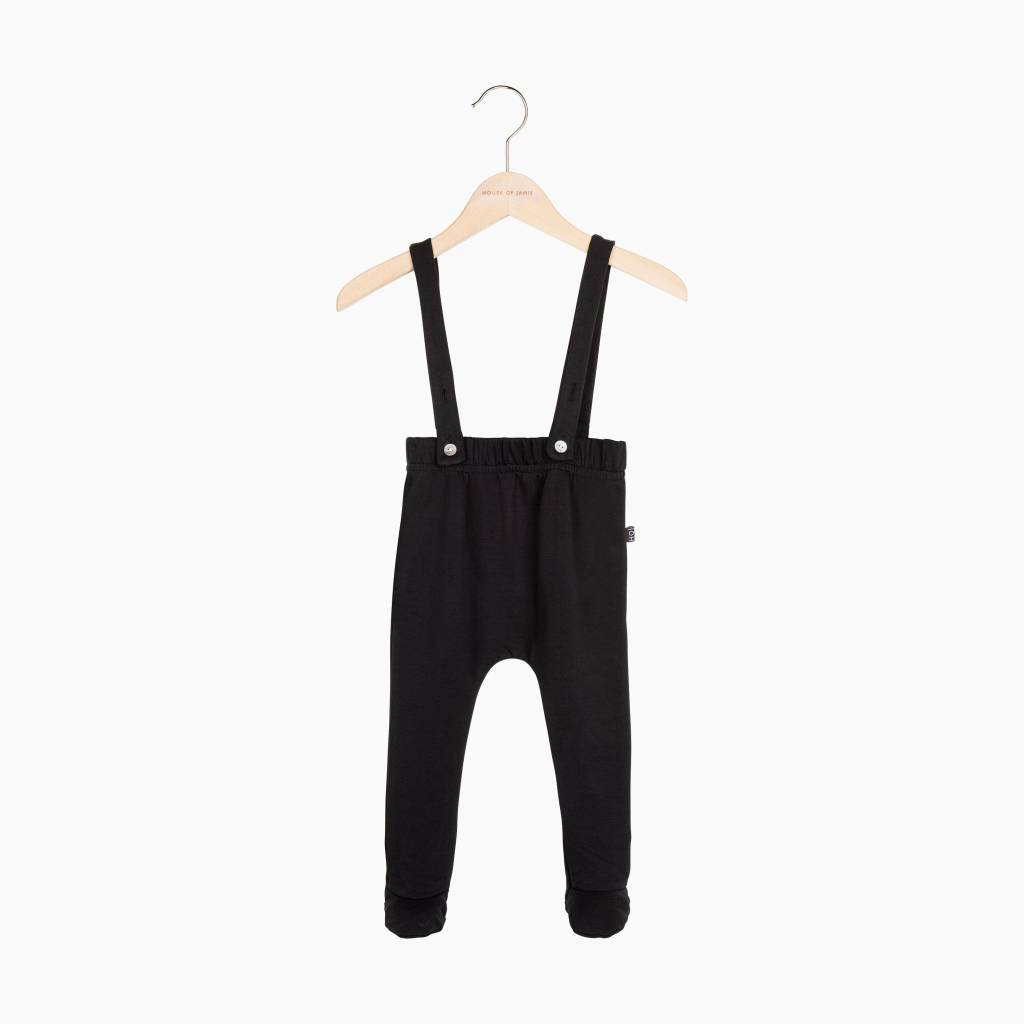 Baby Suspender Pants - Black (NEW)