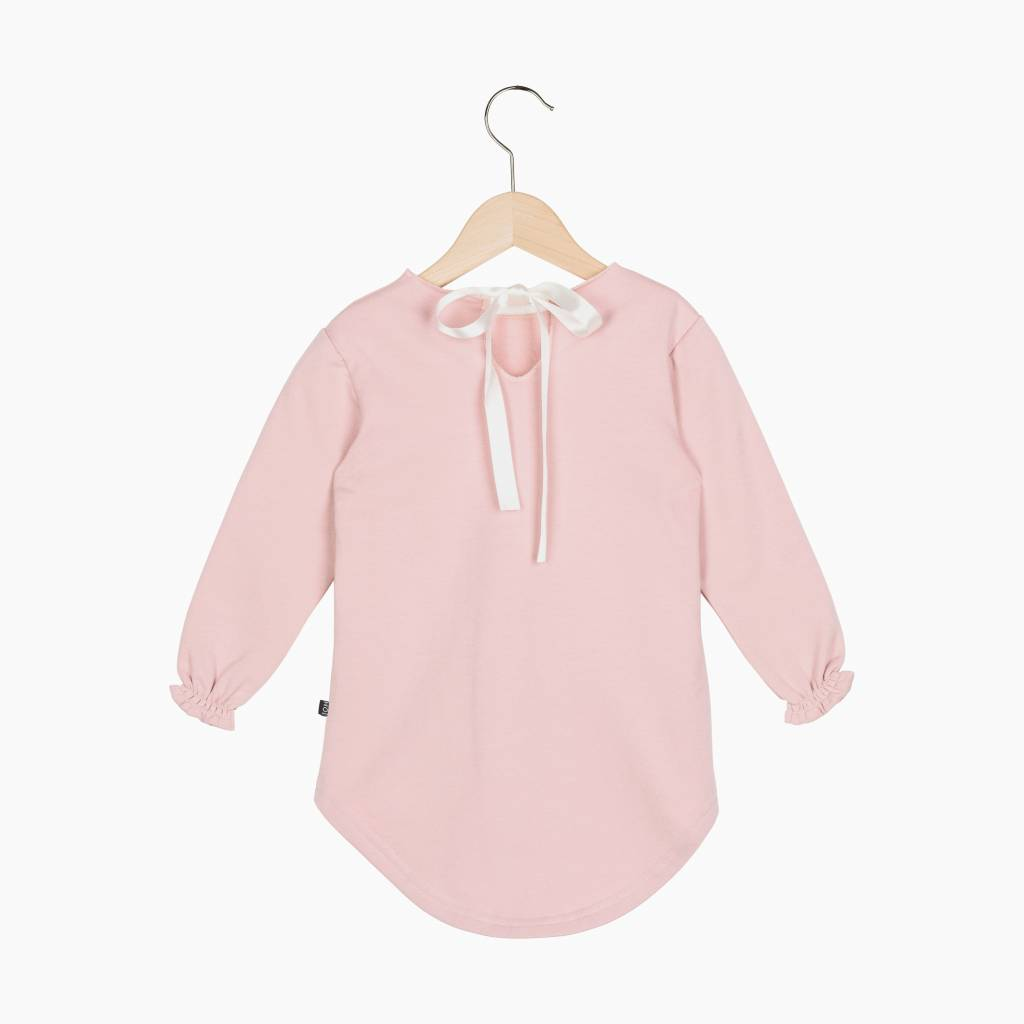 Long Tunic Sweat - Powder Pink