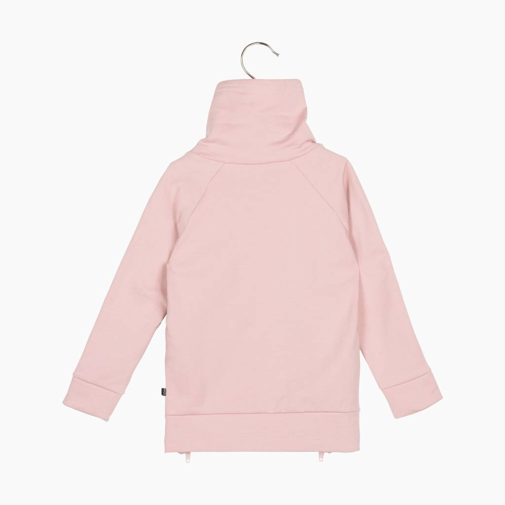 Long Zip Sweater - Powder Pink