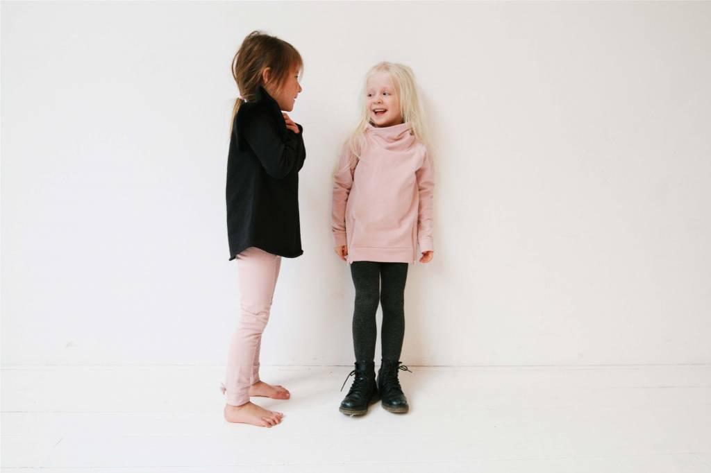 Long Zip Sweater - Powder Pink (NEW)