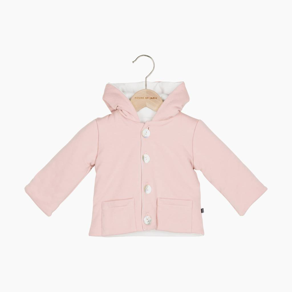 Bow Tie Hooded Jacket - Powder Pink
