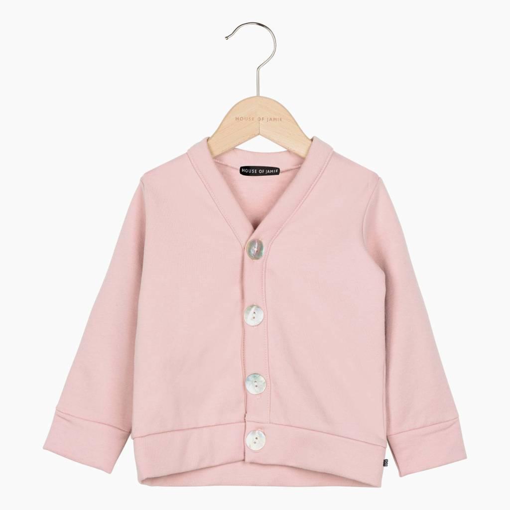 Classic Cardigan - Powder Pink